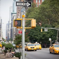 Google can read the text in this picture of a Manhattan street