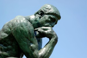 The Thinker ponders how to categorize search engine queries