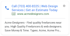 Click-to-call advertisement