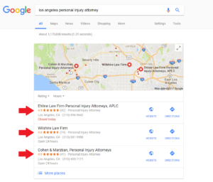 Google customer review program in local SEO box