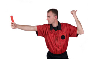 soccer referee red card penalty