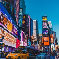Aggressive advertisements in Times Square