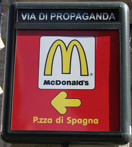 McDonalds ad in Italy